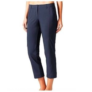 Athleta Navy Palisade Ankle Crop Pants 2 Petite